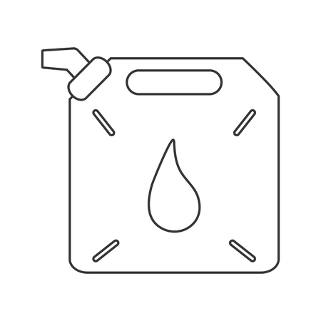 petrochemical: can drop petroleum gasoline oil industry industrial icon. Flat and isolated design. Vector illustration Illustration