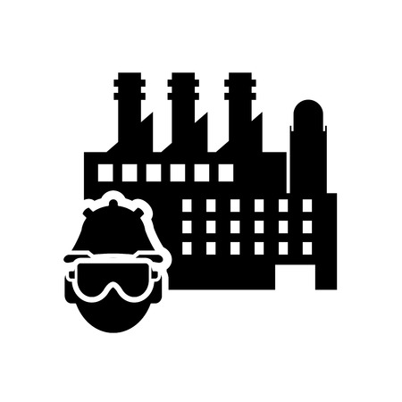factory worker: flat design factory worker icon vector illustration