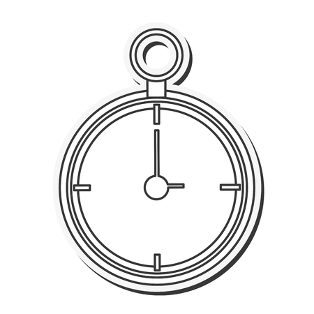old time: clock antique old time silhouette traditional icon. Flat and isolated design. Vector illustration