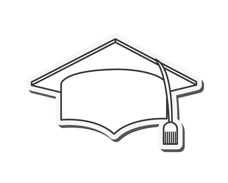 bachelor's: hat graduation cap university cloth icon. Flat and isolated design. Vector illustration
