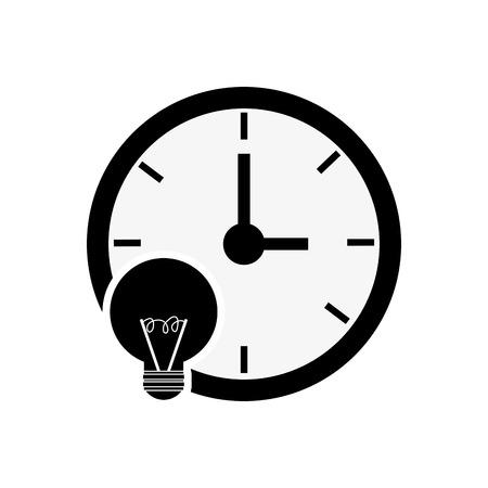 clock time icon design, isolated vector illustration Illustration