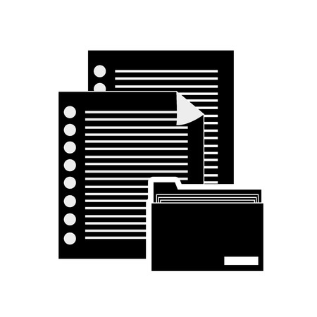 files: flat design documents and file folder icon vector illustration