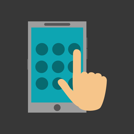 fatal error: cellphone with  password on screen and hand typing  system security design