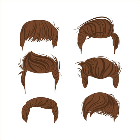 male hair styles head icon. salon and fashion theme. Colorful and isolated design. Vector illustration