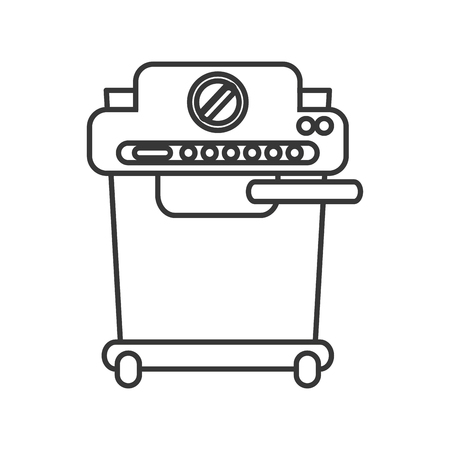 machine shop: coffee machine  shop drink beverage restaurant icon. Flat and isolated design. Vector illustration Illustration