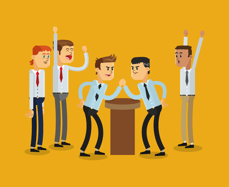 competitions: flat design businessmen competition icon vector illustration Illustration
