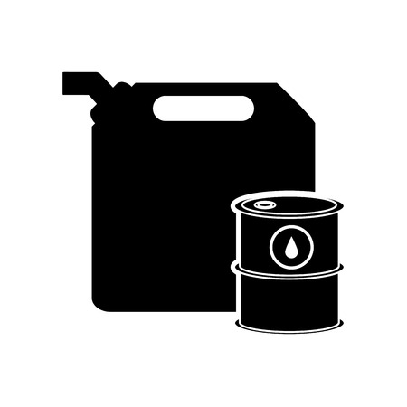 canister: flat design fuel canister and oil tank icon vector illustration