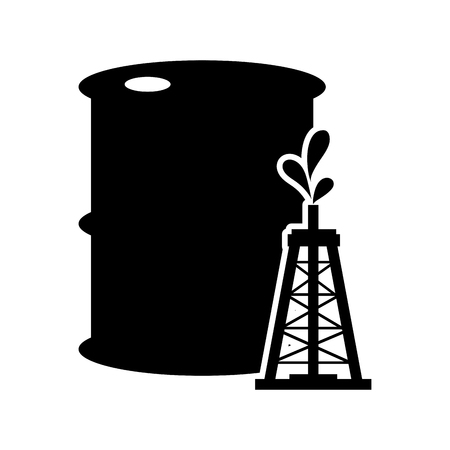 stock listing: flat design oil barrel and icon vector illustration