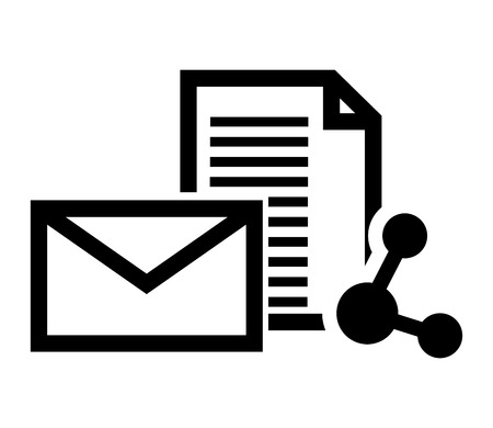connectivity: flat design message envelope and connectivity  icon vector illustration