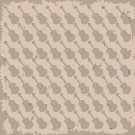 chimes: guitar pattern background image vector illustration design Illustration