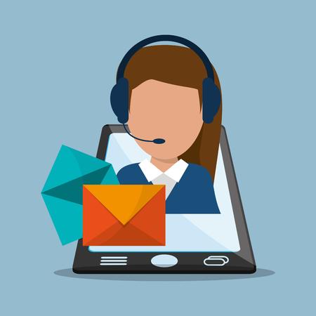 messaging: flat design mobile phone messaging image vector illustration