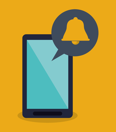 notification: modern cellphone and notification icon vector illustration design