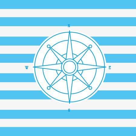 flat design compass nautical emblem image vector illustration