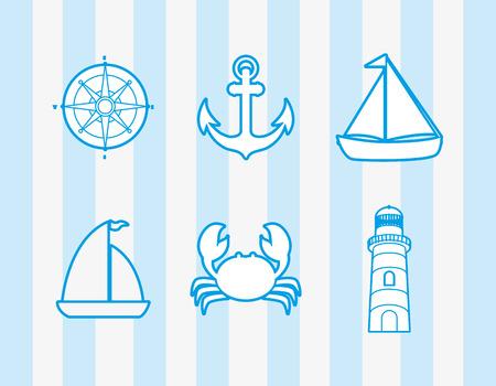 submerged: sea life emblem image vector illustration design