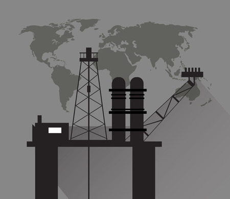 extraction: flat design petroleum oil  extraction and refinement related icons image vector illustration