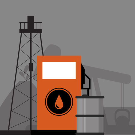 petrochemical: flat design petroleum oil  extraction and refinement related icons image vector illustration