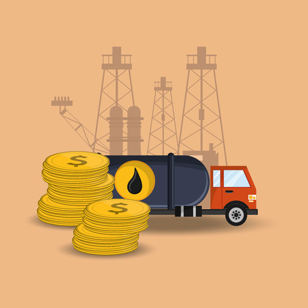 flat design petroleum oil  extraction and refinement related icons image vector illustration