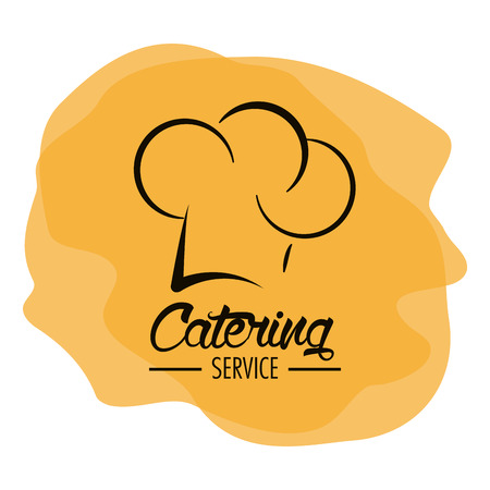 catering service: Chefs hat icon. Catering service restaurant and menu theme. Vector illustration