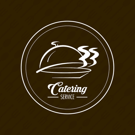hot plate: Hot plate icon. Catering service restaurant and menu theme. Vector illustration
