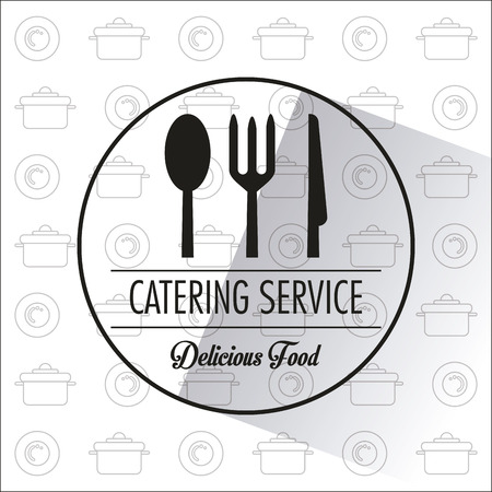 fork and spoon knife: Fork spoon knife and cutlery icon. Catering service restaurant and menu theme. Vector illustration