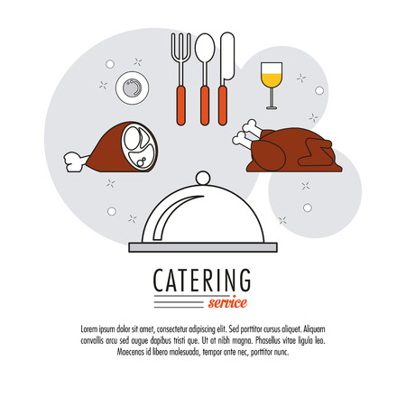 Chicken plate and cutlery icon. Catering service restaurant and menu theme. Vector illustration