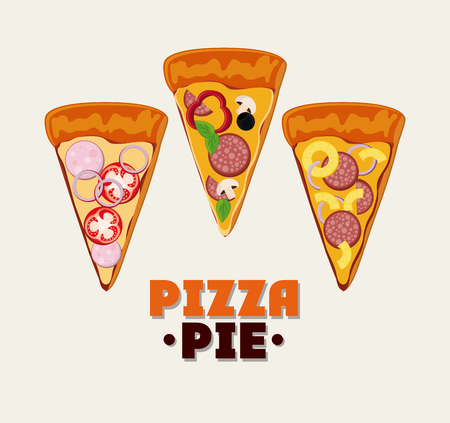Pizza pie icon. fast food menu american and restaurant theme. Colorful design. Vector illustration