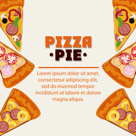 pizza pie: Pizza pie icon. fast food menu american and restaurant theme. Colorful design. Vector illustration