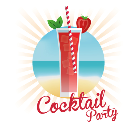 Cocktail Im Kreis-Symbol. Sommer-Party Getränke Und Getränke Thema ...