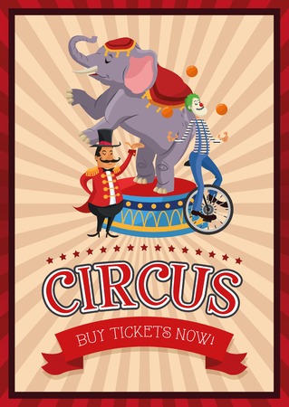 presenter: Elephant clown and presenter cartoon icon. Circus carnival and festival theme. Colorful  design. Vector illustration Illustration