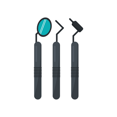 doctor appointment: Tooth tools icon. Dental medical and health care theme. Isolated design. Vector illustration