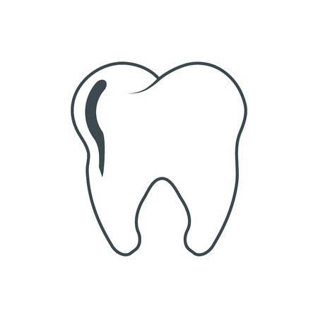 hygienist: Tooth icon. Dental medical and health care theme. Isolated design. Vector illustration Illustration