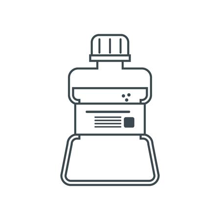mouthwash: icono de enjuague bucal. Dental tema médico y el cuidado de la salud. diseño aislado. ilustración vectorial