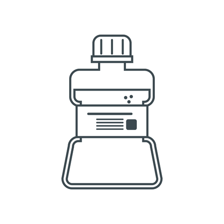 mouthwash: Mouthwash icon. Dental medical and health care theme. Isolated design. Vector illustration