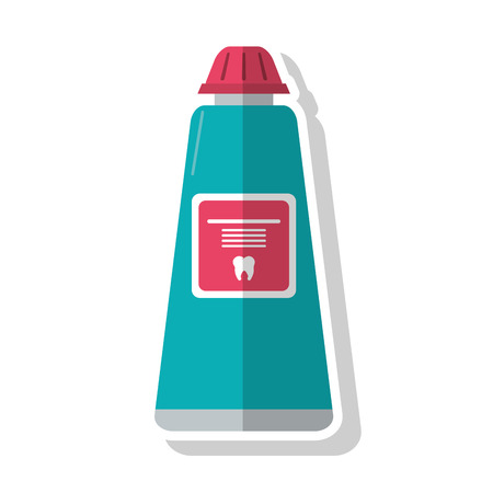 doctor appointment: Toothpaste icon. Dental medical and health care theme. Isolated design. Vector illustration