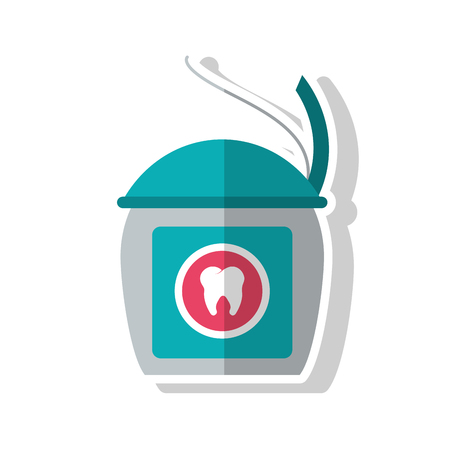 procedure: Tooth floss icon. Dental medical and health care theme. Isolated design. Vector illustration
