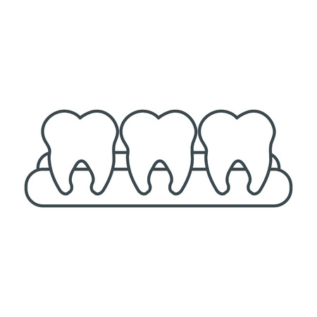 dental hygienist: Teeth icon. Dental medical and health care theme. Isolated design. Vector illustration