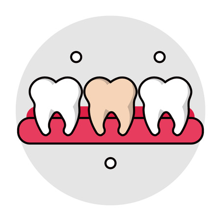 Teeth icon. Dental medical and health care theme. Isolated design. Vector illustration