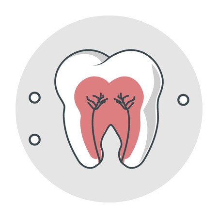 doctor appointment: Tooth icon. Dental medical and health care theme. Isolated design. Vector illustration Illustration