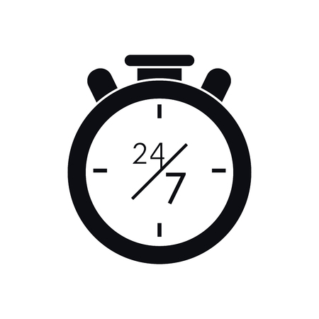 chronometer: Chronometer icon. Call center and technical service theme. Isolated design. Vector illustration