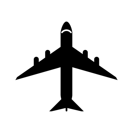 transporter: Airplane vehicle icon. Transportation travel and ride theme. Isolated design. Vector illustration