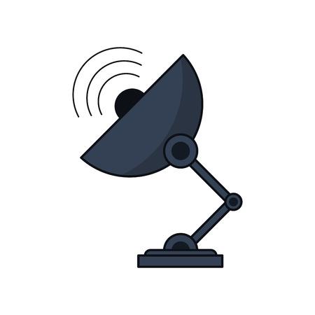 Antenna Icon. Technology Communication And Satellite Theme ...