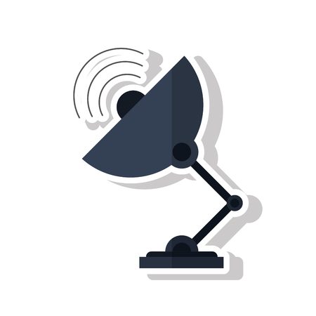 frequency: Antenna icon. Technology communication and satellite theme. Isolated design. Vector illustration Illustration