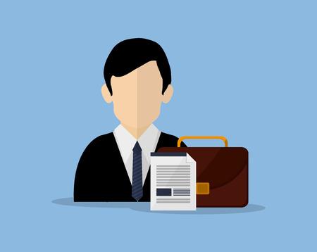 broker: insurance broker or agent and services image vector illustration