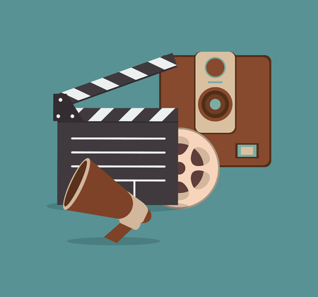 cinematography: cinematography related icons image vector illustration design