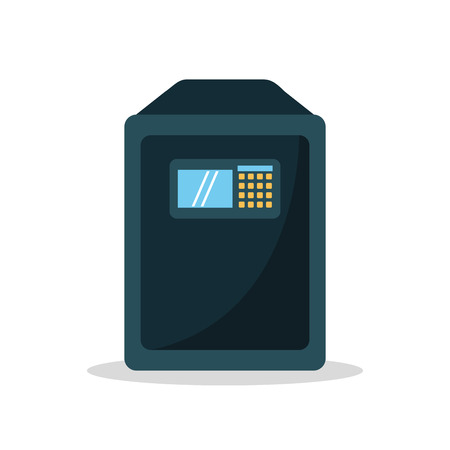 strongbox: Strongbox icon. Object money and security theme. Isolated design. Vector illustration