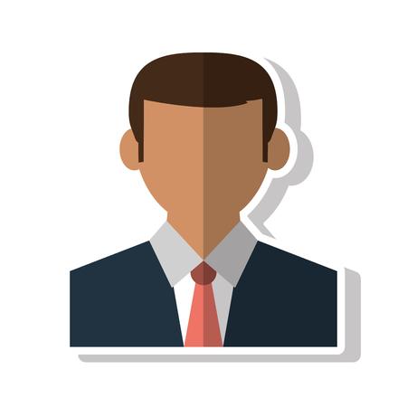 associates: Businessman avatar icon. Business and company theme. Isolated design. Vector illustration Illustration