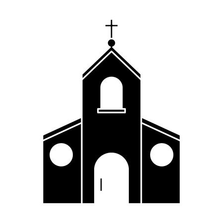 Kirchengebäude Symbol. Religion und Glauben und Bekenntnis Thema. Isolierte Design. Vektor-Illustration