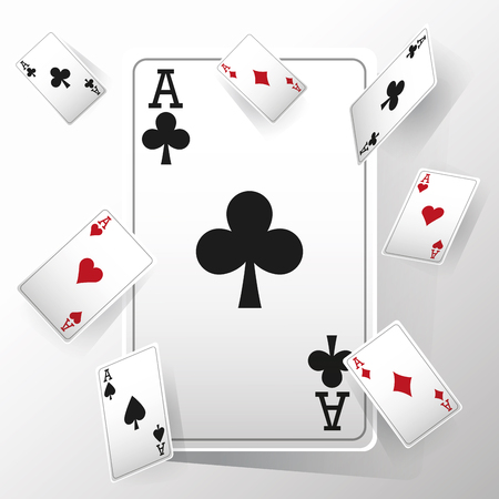 cards of poker icon. Casino and las vegas theme. Colorful and isolated design. Vector illustration