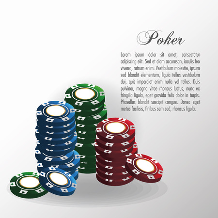 Chips icon. Poker casino and las vegas theme. Colorful and isolated design. Vector illustration