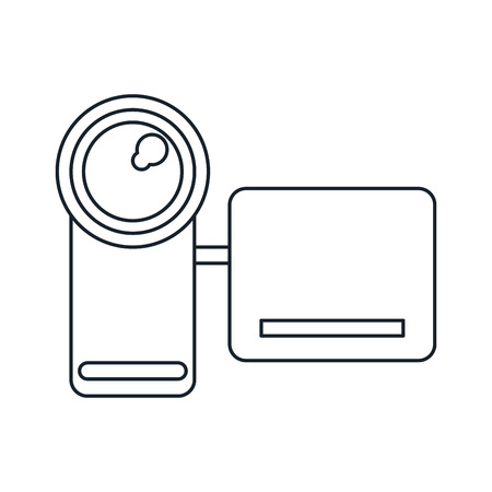 videocamera: Videocamera icon. Device gadget and technology theme. Isolated design. Vector illustration